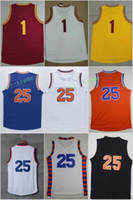 Wholesale Roses Names - 2017 New #1 Derrick Rose Man Basketball Jerseys #25 For Sport Fans All Stitched Team Maroon Yellow Blue Color Orange White With Player Name