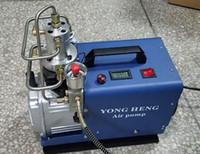 Wholesale Air Powered Pumps - 110V Adjustable Auto-Stop 4500PSI 300Bar 30MPA Electrical High Pressure Air Compressor Inflator PCP Rifle Airgun Scuba Air Pump