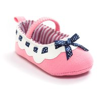 Wholesale Girls Dot Butterfly Knot - Cotton fabric baby shoes girls boys sneakers shoes butterfly knot baby first walkers newborn infantil bebe shoes 0~18month bx287