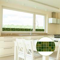 ingrosso armadio in vetro da bagno-10x1000 cm piastrelle adesivi murali in ceramica Per Cabinet Stufa piastrelle cucina bagno finestra vetrofanie decalcomanie fai da te decorazioni per la casa
