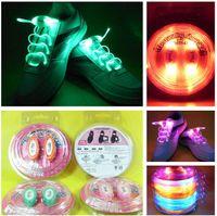 Wholesale Led Shoes String - 10pcs (2pcs=1pair)Boys Girls Kids Light Up LED Shoelaces Flash Party Disco Shoe Laces Shoe Strings Free Drop shipping Stock