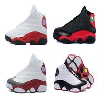 Wholesale Slips Nylon Men - High quality retro 13 basketball shoes sneakers XIII mens basketball shoes cheap sneakers black red Outdoor sports shoes