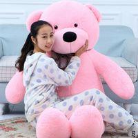Wholesale Large Pink Stuffed Bear - 220cm large teddy bear soft giant big plush toys Life size teddy bear soft stuffed Children soft peluches Birthday gift