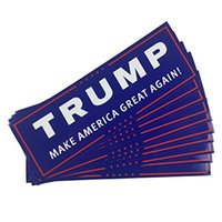 Wholesale 76 MM Trump Flag Make America Great Again Donald for President USA American Car Sticker Flag free ship