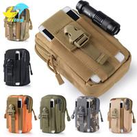 Wholesale Travel Bag For Iphone - Advocator Men 5.5' Camouflage Nylon Fanny Bag Mobile Phone Travel Waist Pack Bag Military Men Waist Fanny Pack Waist Belt Bag
