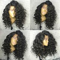Wholesale Silk Top Deep Wave Wigs - 5x4.5 Silk Base Wig Brazilian Hair Glueless Silk Top Full Lace Human Hair Wigs For Black Women Loose Deep Wave Lace Wigs