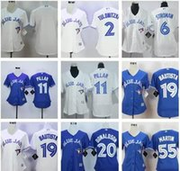 32ef12c8354 Flexbase Authentic Collection Stitched MLB Jersey Baseball Unisex Short  2017 Womens Toronto Blue .