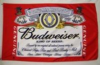 Wholesale Beer Hockey - Budweiser King Of Beer Banner Flag 3X5Ft Custom Football Hockey College Baseball Flag