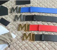 Wholesale Shoe Wallet - high quality M BUCKLE Brand Designer Belts Men High Quality Genuine Leather Mens Belts Luxury belt with men bag wallet Sandals shoes
