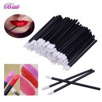 Wholesale Beauty Plastic Disposable - Disposable Makeup Lip Brush Lipstick Gloss Brushes Set Eyeliner Eye Shadow Applicator Makeup Tools Beauty Essentials