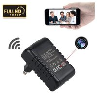 Wholesale Real Time Surveillance - Free DHL 1080p Full HD WIFI Charger Camera A1Wireless Hidden Adapter Camera Mini Cam Real Time Loop Video Security & Surveillance Camera