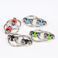 Wholesale Metal Children Rings - Mini New Hot Key Ring Fidget Toy fidget spinner Metal Spinner Keyring ADHD Relieve Stress Gifts for Children Kids