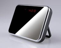 Wholesale Table Alarm Clock Spy Camera - Original1280*960 5MP HD Spy Cameras Digital Mirror Table Alarm Clock Hidden Cam Camcorder Mini Video Recorder Motion Detection in Retail Box