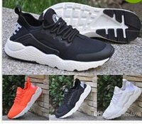 Wholesale White Mesh Walking Shoes - 2017 Men and woman Casual Air Mesh New Huarache Trainer Chukka Black White Lightweight Breathable Walking Hiking Shoes 36-44