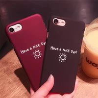 Wholesale Thin Cell Phones For Sale - black and wine red Hard frosting PC cell phone cases For iphone 6S 7 plus cases fashion hot sale ultra thin back cover shockproof shell 2017