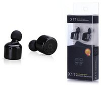 Wholesale Handsfree Bluetooth Earphone - In-ear X1T Mini Invisible Twins True Wireless Bluetooth Earphones CSR 4.2 Handsfree Earbuds for iPhone 7 Plus,Samsung S6 Xiaomi