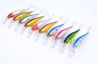 Wholesale ps laser - New PS Painted Laser Minnow Fishing bait 10cm 9.6g Freshwater Fishing Shallow Diving Bionic Artificial wobbler lure Hooks