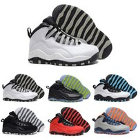 Wholesale Men Winter Fur Shoes - [With Box] Cheap Air Retro 10 Paris NYC CHI Rio LA Hornets City Pack Vivid Pink 10s Men Basketball Shoes Sneakers Retro X Sports Shoes 8-13