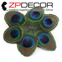 Wholesale Peacock Hair Feathers - ZPDECOR Wholesale Original 50pcs lot 10-12cm(4-5 inch)Natural Trimmed Peacock Tail Feather Eye For Jewelry Costumes Hair Accessories