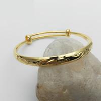 bracelets en or 24k achat en gros de-Unisexe Enfants Bell Bracelet Bracelets 24K Jaune Plaqué Or Dragon et Phoenix Bracelet Bracelets pour Bébés Enfants Enfants Beau Cadeau