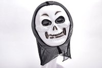 Wholesale Latex Scream Mask - New 6 types Halloween Mask Masquerade Latex Party Dress Skull Ghost Scary Scream Mask Face Hood
