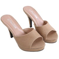 Wholesale Cheap Nude Sandal Heels - Cheap Womens Sandals Heels Online Shopping Fashion Ladies High Heels Pumps Discount Female Slippers Stiletto Heels Outlet Shoe Drop Shipping