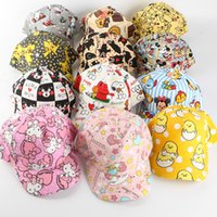 animal impresión snapbacks al por mayor-Cute Canvas Cartoon Cap para niño padre niño sombrero Cartoon Print Niños niños niñas Hip Hop béisbol Snapbacks 30 colores