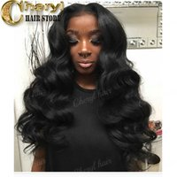 Wholesale Remy U Part Wig - Popular body wave Upart wigs Brazilian virgin remy human hair wigs middle parting u part wigs color #1 baby hair high density 200%