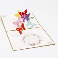 Wholesale butterfly envelopes - (10 piece lot)DIY Cute Kawaii Love Butterfly Greeting Card Romantic Carved Hollow Paper Wing Creative Post Card with Envelope