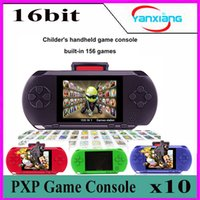 Wholesale Portable Color Tv - 10PCS Portable Game player PXP 3 156games 16 Bit Game Console Retro Color Video Gamepad Game Controller For Kids Children Gifts YX-PXP3-1