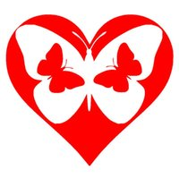 Wholesale cars butterfly doors online - Automobile and Motorcycle with Products Vinyl Decal Car Stickers Glass Stickers Scratches Sticker Heart Butterfly