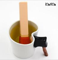infusor de té de regalo al por mayor-Drinkware Herramientas Regalos de Navidad Creative Tea Match Tea Infuser 15.5 * 3.3cm Silicona Tea Straubers Decoraciones para bodas