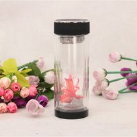 - black glass kettle - Heat resisting Glass Water Bottle Business Black Transparent Double Wall Glass Cup with Tea Infuser Strainer Office Outdoor Tea Tumbler