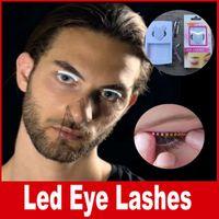 Wholesale Cheap Concert - Lashes Interactive LED Eyelashes Fashion Glowing Eyelashes Waterproof for Dance Concert Nightclub Party Fashion cheap eyelash