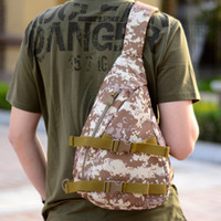 Wholesale Wholesale Retro Print Fabric Bags - The new outdoor camouflage tactics chest pack Shoulder Messenger in many men and women leisure sports bag backpack lage ride