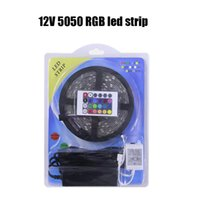 Wholesale Ir Controller For Led Lights - 5M DC12V Waterproof 5050 SMD RGB Tape Flexible LED Strip light Ribbon 60LEDs M 24 Keys IR Remote Controller For Indoor light
