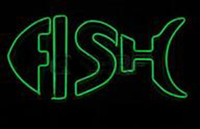 """Wholesale Market Fishes - Fish Logo Neon Sign Custom Handcrafted Real Glass Tuble Restaurant Sea Food Market Store Advertised Display Neon Signs 19""""X10"""""""