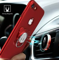 Wholesale Magnet Magnetic Ring - For iPhone case Ring Magnetic Vehicle Mount Car Phone Holder 360 Degree Rotation Strong Magnet Air Vent Holder For iPhone 6 6s 7 and Plus Se