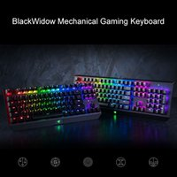 Wholesale Mechanical Razer - Razer BlackWidow Mechanical Gaming Keyboard Chroma Tournament Edition Stealth Ultimate Cyber Games LOL WCG Dazzle Colour Lighting Effect