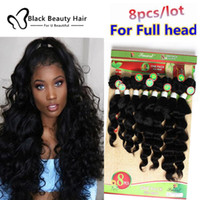Wholesale Virgin Ombre Hair For Weave - Kadoyee 8pcs Lot brazilian virgin hair extension Loose Wave Deep wave Weave 8 Bundles in one pack for full head Cheap Human deep wave Hair