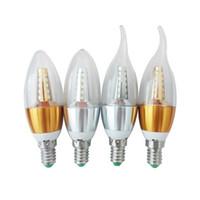 Wholesale E27 Candle Light Led Color - Manufacturers Wholesale Starlight candle bulb LED warm three-color light bulb e14e27 pull tail light bulb 5W7W9W