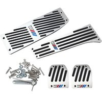 Wholesale Bmw E87 - Car Accessory Aluminum Footrest M Pedal Pad Set For BMW X1 E30 E36 E46 E90 E87 E92 E93