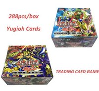 Wholesale Wholesale Childrens Toy Box - YuGiOh ! 288Pcs Box Yugioh Cards Game Paper Cards Childrens Toys Yu Gi Oh Game Trading Cards Game Gift Brinquedo Toys
