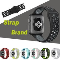 Sport Silicone Replacement Straps Bands Mais furo para Apple Watch iWatch Series 1/2/3 Bracelete de pulseira 38 / 42mm Pulseira de pulso VS Fitbit Strap