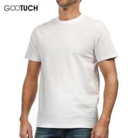 Wholesale Tops Short Sleeves O Neck - GOOTUCH Underwear Undershirt Men Tops Classic 4xl 5xl 6xl O neck Short Sleeves Lycra Cotton 100%Cotton T Shirt For Man G 2485