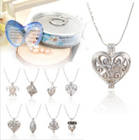 Wholesale Wholesale Canned - Factory direct love love pearl necklace, oyster pendant necklace(excluding pearl canned), wholesale alloy pendant necklace, free shipping
