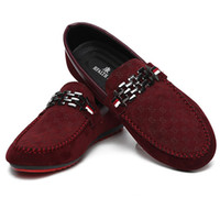 Wholesale Blue Suede Shoes Comfort - 2017 Summer Comfort Breathable Slip On Flats Men Shoes Casual Loafers Low Top Soft Suede Men Moccasins Red Black Blue Boat Shoes