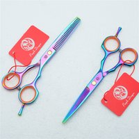 Wholesale Dragon Scissors - Z1004 5.5'' Purple Dragon Colorful Hairdressing Scissors Factory Price Cutting Scissors Thinning Shears professional Human Hair Scissors
