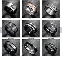 Wholesale titanium silver l stainless steel rings for men