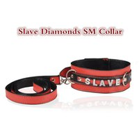 Wholesale Diamond Adult Collars - HOT sexo slave collar chain with diamonds sex toys for women bondage neck strap SM games adult sex toys fetish sexy shop